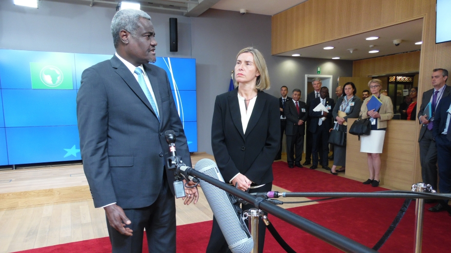 Moussa Faki Mahamat at EU Council