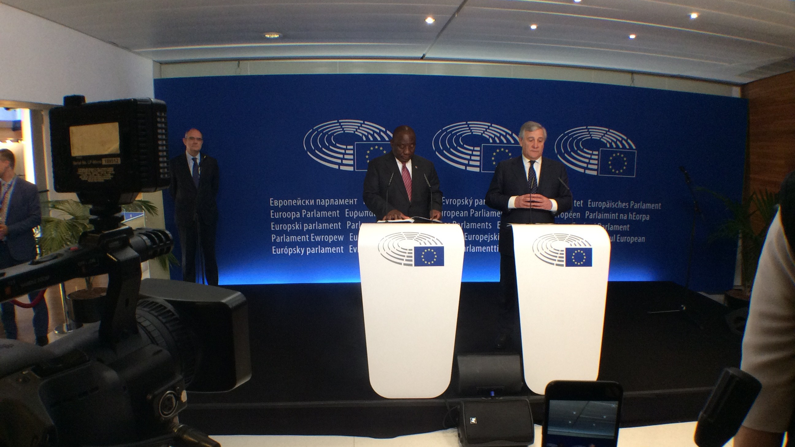 Ramaphosa addresses Europarliament