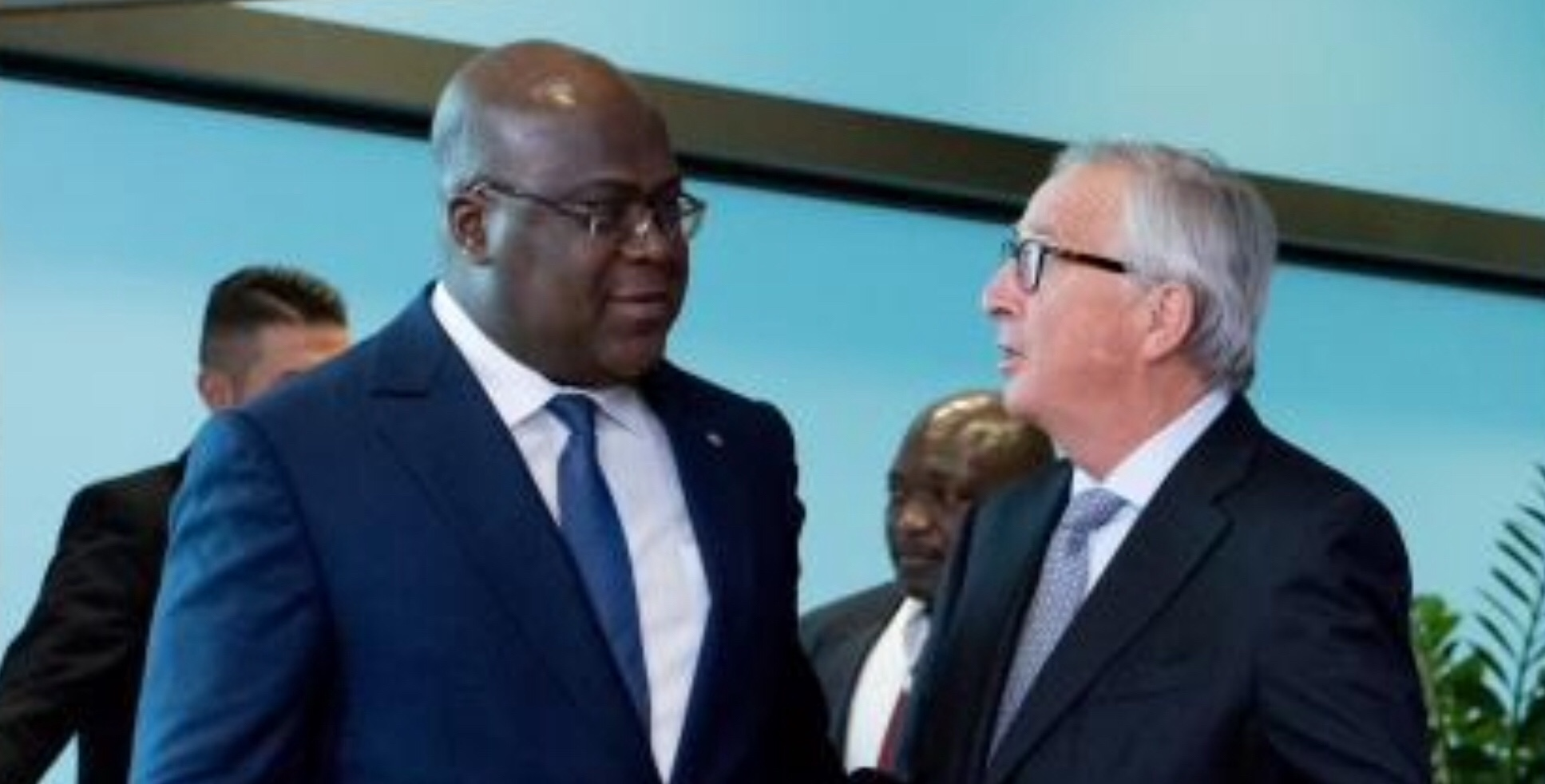 EU Juncker meets Congo President Tshisekedi