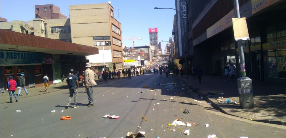 South Africa urban violence outbreak