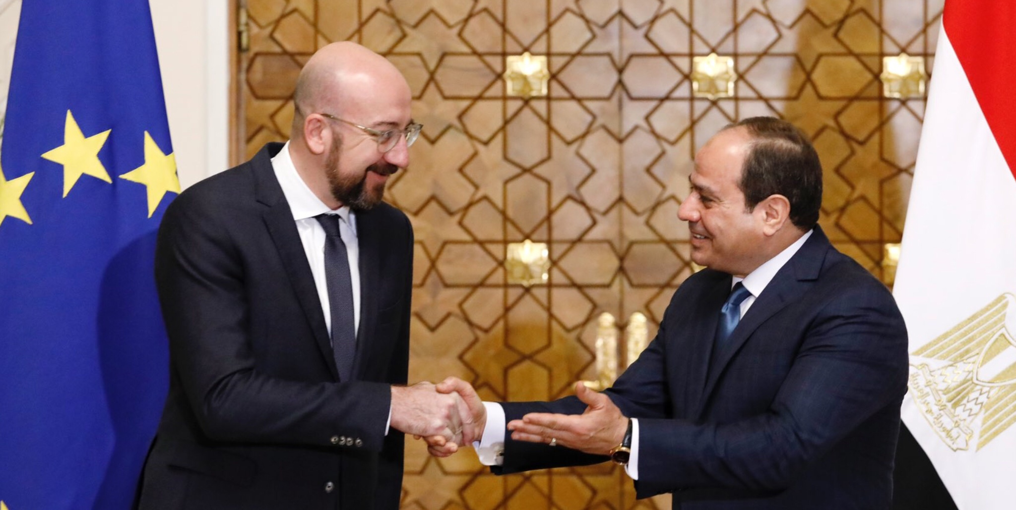 Michel discusses Libya with Al-Sisi